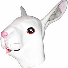 White Easter Bunny Latex Mask Costume Parties Holiday Religious Novelty Pretend  #Dillon
