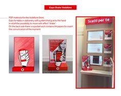 Vodafone Store - POP materials on Behance Graphic Design Print, Design Art, Online Portfolio, Adobe, Stationery, Behance, Display, Flooring, Pop