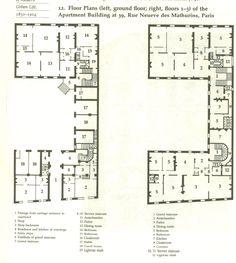 Paris apt interior blueprint