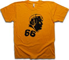 "Image of Mario Lemieux Gold & Black ""66"" tee by Backpage Press"