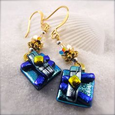 Sweet Moments Dichroic Earrings by HanaSakuraDesigns on Etsy