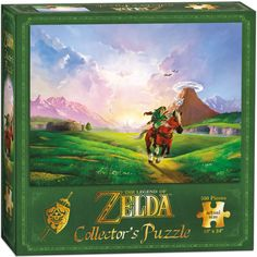 """Become a Hero of Time and piece together this epic view of Link riding through Hyrule. 550-piece puzzle measures 18"""" x 24"""" when fully assembled. A perfect gift for Zelda fans!"""