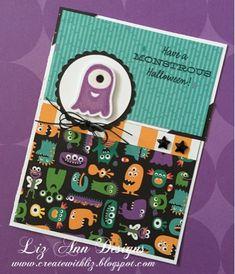 Monster Halloween Card