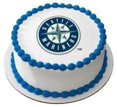 1/4 Sheet ~ MLB Seattle Mariners Baseball Logo ~ Edible Image Cake/Cupcake Topper!!! >> You can get additional details at : baking decorations