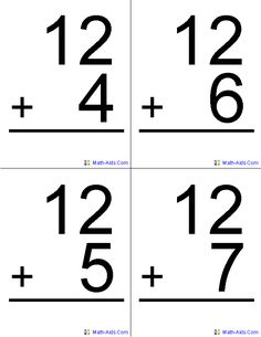 38 best Math Flash Cards images on Pinterest | Math flash cards ...