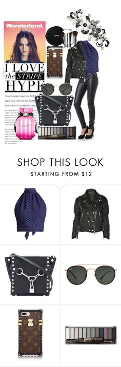 """Woman's Biker Costume"" by blackleatherjackets ❤ liked on Polyvore featuring Emma Watson, CECILIE Copenhagen, Burberry, Alexander Wang, Ray-Ban, Rimmel, Chanel and Victoria's Secret"