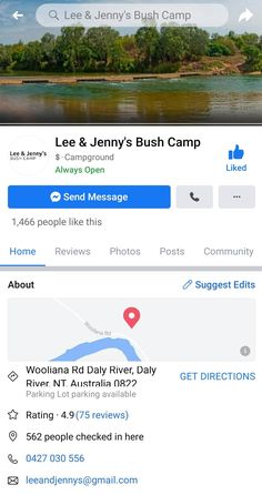 Northern Territory Camping Spots, Get Directions, People Like, Australia, River, Park, Parks, Rivers