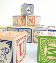 traditional ABC Blocks - Brook Farm General Store