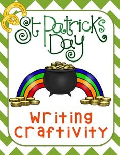 St. Patrick's Day Writing Craftivity (Plus Pennant Banner!) Ready for your bulletin board!