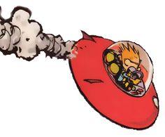 "Calvin & Hobbes ""Spaceman Spiff"""