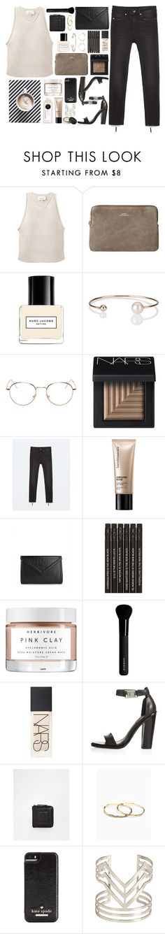 """Darcy"" by breilachristou ❤ liked on Polyvore featuring 3.1 Phillip Lim, Marc Jacobs, Letters By Zoe, RetroSuperFuture, NARS Cosmetics, Zara, Bare Escentuals, Isaac Mizrahi, Herbivore and Givenchy"