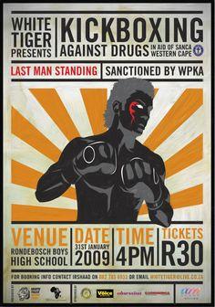 Kickboxing/Muay Thai Event Poster by Ashraf Majiet, via Behance