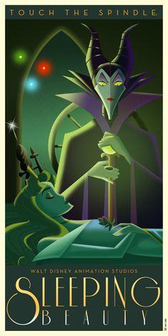 Sleeping Beauty Art Deco poster by DavidGFerrero on DeviantArt
