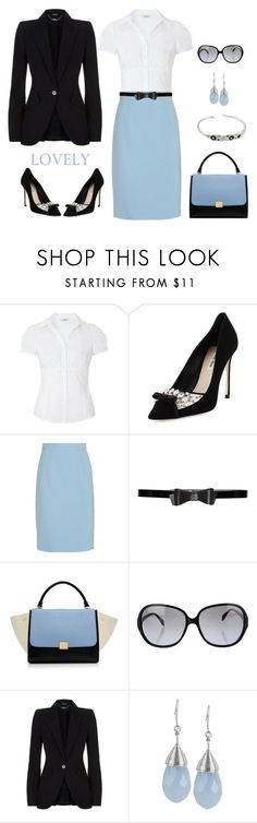 """""""Untitled #651"""" by gallant81 ❤ liked on Polyvore featuring Miu Miu, Alice + Olivia, CÉLINE, Oliver Peoples, Alexander McQueen, INC International Concepts, women's clothing, women's fashion, women and female"""