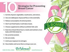 10 Strategies for Preventing Breast Cancer : via Dr. Fuhrman website