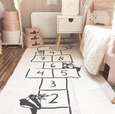 Baby figure Number Checker New Funny Floor Bed Sofa Play Mats Kids Toddler Blanket Cover Developing Carpet tapis lapin Cushion Playroom Decor, Nursery Decor, Playroom Ideas, Nursery Bedding, Room Ideias, Big Girl Rooms, Kids Rooms, Room Kids, Kids Room Rugs