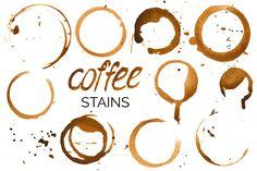 Big Watercolor Coffee Set by mcherevan on @creativemarket
