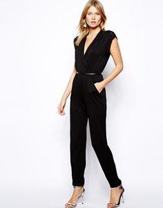 2077b51fe01b Image 4 - Love - Combinaison style cache-cœur avec ceinture Combinaison  Pantalon, Styliste