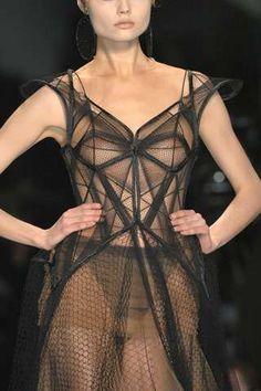 geometric fashion couture dress graduate fashion style work art of fabric manipulation fashion art