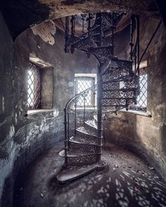 """2,792 Likes, 88 Comments - Mathias Mahling (@glory.of.disrepair) on Instagram: """"[mystic spiral] shot this in an abandoned castle in Poland with @benjihultsch #abandoned #decay…"""""""