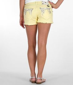 Miss Me Fray Short in Pastel Yellow