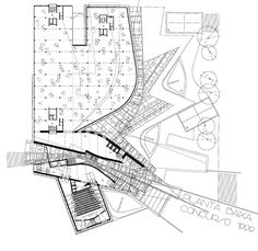 Enric Miralles, architecture, plan drawing