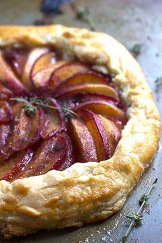 Plum Nectarine Galette ~ http://www.grandbaby-cakes.com. I think I'll substitute the plums for mangoes :)