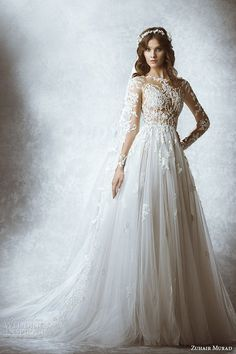 Zuhair Murad gown with lace sleeves // Top Wedding Dress Trends for 2015 - Part 1