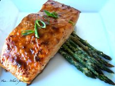 Balsamic Glazed Salmon~T~ Balsamic, brown sugar and dijon add a nice flavor to this salmon recipe.