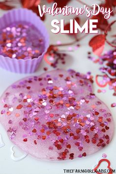 You and your kids will LOVE making this easy DIY Valentine's Day Slime project. This fun craft makes a great party favor too! You and your kids will LOVE making this easy DIY Valentine's Day Slime project. This fun craft makes a great party favor too! Funny Valentine, Roses Valentine, Kinder Valentines, Valentines Day Activities, Valentines Day Party, Valentines Games, Craft Activities, Preschool Crafts, Valentine's Day Crafts For Kids