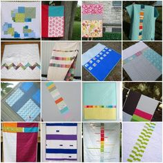 Great quilt backs @happyhopefuls here are some idea for optional backs to coen's quilt