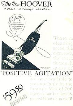 1920 advertisements | 1920 Vintage Hoover Vacuum cleaner Ad (Hoover Vacuum) at Miss Pack ...