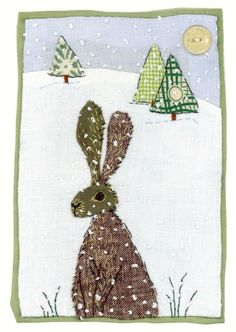 Hare in snow by Sharon Blackman by selena