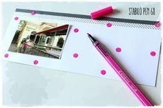 Vyrobte si efektní puntíkatý background s fixou Stabilo Pen 68 Stabilo Pen 68, Background S