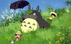 Anime Masterpieces : Hayao Miyazaki and Studio Ghibli Anime Movie Wallpapers - Miyazaki Masterpieces : My Neighbor Totoro Wallpaper Images 2