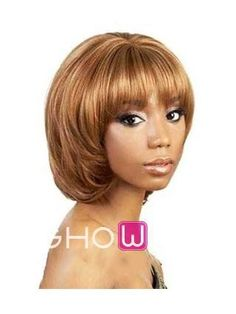 Unique 10 Inch Straight Brown Synthetic Wig With Bangs http://www.ishowigs.com/unique-10-inch-straight-brown-synthetic-wig-with-bangs-aa40618.html