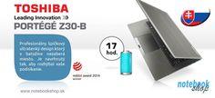 Toshiba Portégé Z30-B - Profesionálne odolné a výkonné ultrabooky Portégé Z30-B s výdržou na batérie až 10 hodín. Modely aj s dotykovým displejom, so slovenskou podsvietenou klávesnicou.