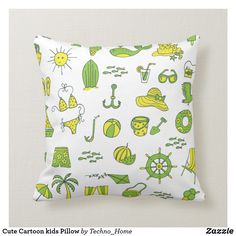 Vibrant For nursery themed pillows from Zazzle! We have the perfect pillow for your needs. Soft & cozy in a range of themes & styles. Cartoon Kids, Cute Cartoon, Pillow Cover Design, Pillow Covers, Kids Pillows, Throw Pillows, Perfect Pillow, Techno, Vibrant