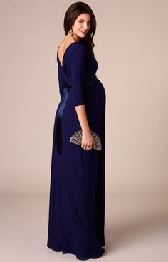 51f7ffcb1a8 Our new full length version of the Willow maternity dress is swishy,  draping and elegant