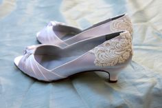 Ivory Wedding shoes Low heel 1.75 heel  by TheCrystalSlipper, $145.00