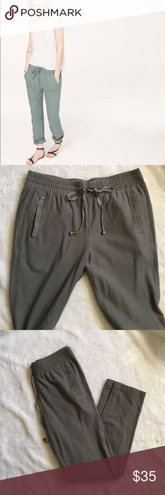 Lou & Grey drawstring pants 100% cotton. Gray. Drawstring waist. Skinny around the ankle Lou & Grey Pants