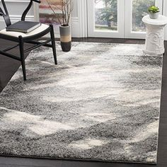 """2' x 3' 7"""" Grey Ivory Abstract Geometric Pattern Area Rug Beutiful Motif Soft & Cozy Textured Retro Art Inspired Design Living Room Carpet Features"""