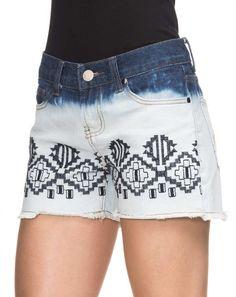 AMARO   Shorts Jeans Bordado Ethnic