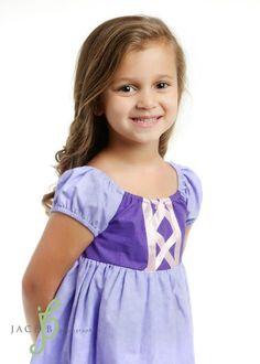 for leahs first disney trip! Rapunzel Tangle Peasant Disney Inspired Dress Costume. $44.00, via Etsy.