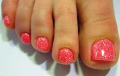 watermelon slush pedicure. super cute toes!