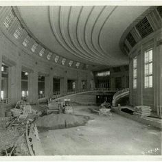 Timeline Tuesday 07/24/2012: Does this area of Union Terminal look familiar? It should if you've been to our Cincinnati History Museum! Here we see the south vehicle ramp where workers were finishing tile work and preparing to pour sidewalks in 1932. Today, this is where our very popular Cincinnati in Motion exhibit is located