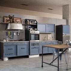 cucina Hangar. info e preventivi in negozio. #itesoricoloniali #cucine #arredamenti #reggioemilia #homestaging #design #cucinesumisura