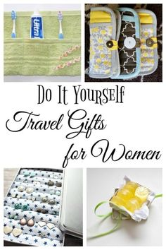 Do it Yourself Travel Gifts for Women DIY travel gifts for women -- yes these are simple enough to make yourself. And so clever too! Homemade Gifts, Diy Gifts, Travel Crafts, Packing Tips For Travel, Travel Hacks, Travel Advice, Travel Jewelry, Travel Clothing, Make A Gift