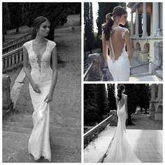 Online Shop Vestido De Noiva 2014 Sexy Backless Wedding Dresses Mermaid Lace Unique Wedding Dresses 2014 Bridal Gown Vestido De Casamento|Aliexpress Mobile