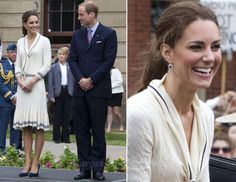 Catherine looking lovely. Look closely at her earrings. They once belonged to her mother-in-law, Princess Diana.